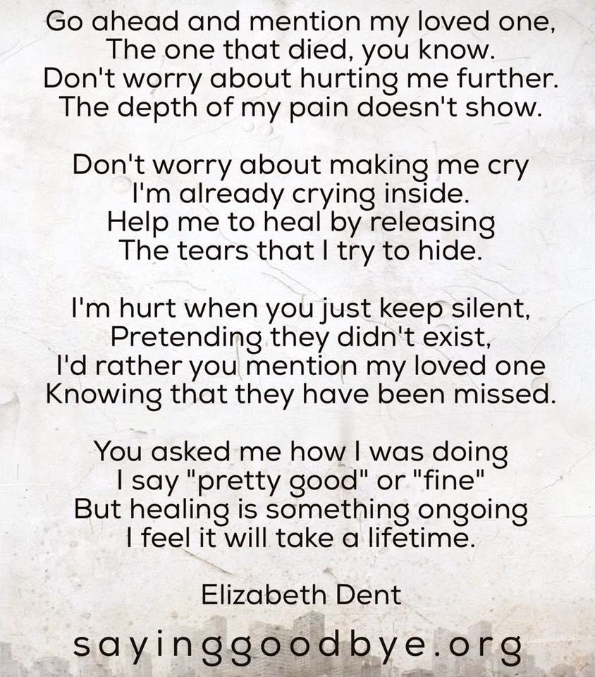 Poems Saying Goodbye